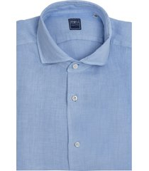 light blue linen man shirt