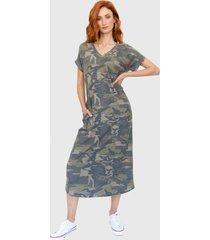 vestido largo camuflado natal verde militar racaventura