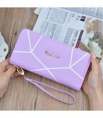 gran capacidad cartera para mujer/ marca de agua-púrpura