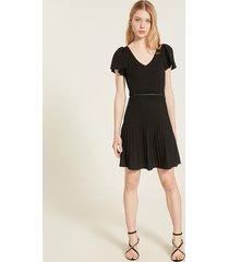 motivi vestito corto in maglia lavorata donna nero