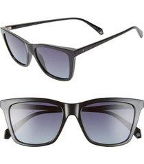 women's polaroid 53mm polarized rectangular sunglasses -