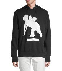 prps men's elgin cherub graphic hoodie - black - size l