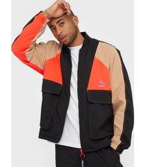 puma tfs industrial track jacket jackor black