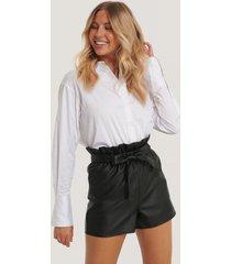 rut&circle pu-shorts - black