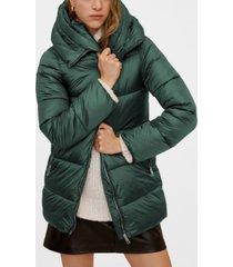 mango hood quilted coat