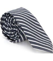 gravata algodão eufrates - azul