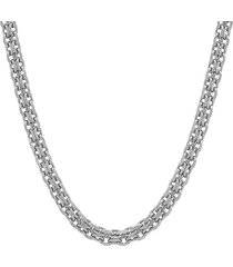 anthony jacobs men's stainless steel bismark mesh link necklace