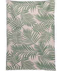dywan chodnik bawełniany leaves green 120x180 cm