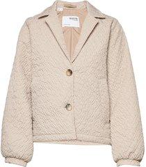 slfdreamie padded jacket gevoerd jack grijs selected femme