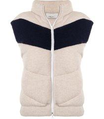 3.1 phillip lim zip-up padded wool gilet - neutrals