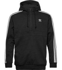 3-stripes hz hoodie trui zwart adidas originals