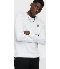 adidas originals essential crew tröjor vit/svart