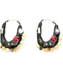 marni half moon resin earrings