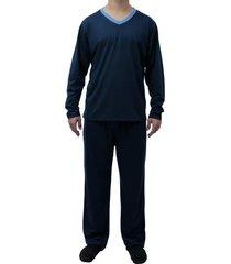 conjunto de pijama longo touro boots masculino azul - kanui