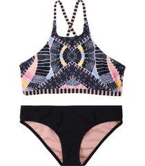 bikini high neck negro h2o wear