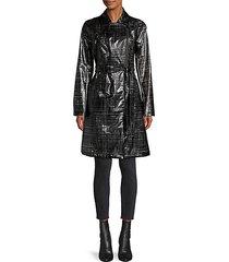 belted zip-up coat