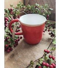 ceramiczny kubek czerwony