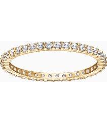 anello vittore, bianco, placcatura oro