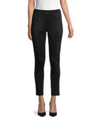 calvin klein women's faux suede leggings - black - size s