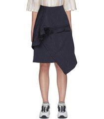 asymmetric ruffled skirt