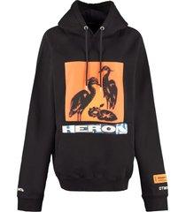 heron preston printed cotton hoodie