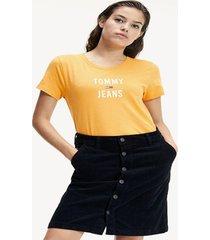 polera square amarillo tommy jeans