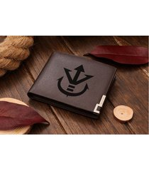 dragon ball z vegeta saiyan royal crest leather wallet