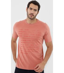 camiseta dudalina nãºmeros laranja - laranja - masculino - algodã£o - dafiti