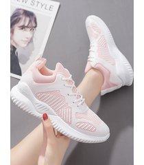 zapatillas transparentes de malla transpirable