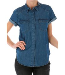 blusa gila ss denim shirt azul cat