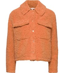 wendy jacket outerwear faux fur oranje soft rebels