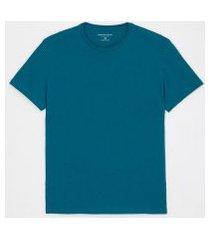 camiseta comfort em algodão peruano lisa | marfinno | azul | gg