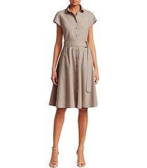 belted mini poplin dress