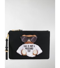 moschino teddy bear pouch
