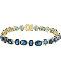 london blue topaz tennis bracelet (29-1/3 ct. t.w.) in 14k gold
