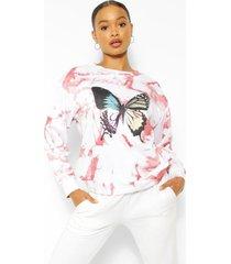 vlindertrui met tie-dye-effect, rose