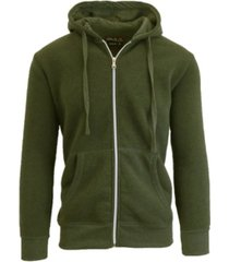 galaxy by harvic men's full zip fleece hooded sweatshirt