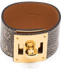 hermès 2000s pre-owned kelly dog bracelet - grey