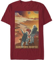 nasa men's mars surveyors wanted short sleeve t-shirt