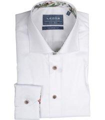ledûb overhemd wit extra lang 0138930/910910
