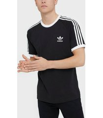 adidas originals 3-stripes tee t-shirts & linnen black