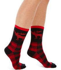 charter club women's moose crew socks, created for macy's