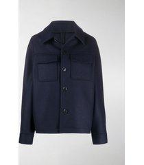 ami paris flap pockets single-breasted jacket