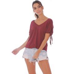 camisa con mangas anudadas para mujer x49444