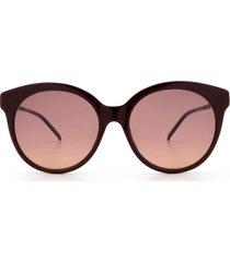 gucci gucci gg0653s burgundy sunglasses