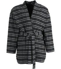 check pajama jacket