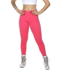 calã§a legging  miss blessed saia sobreposta rosa chiclete - rosa - feminino - poliamida - dafiti