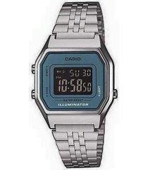 reloj kcasla 680wa 2b casio-plateado