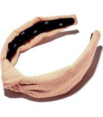 orange seersucker knotted headband