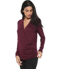 blusa banana republic wrap top lgg vinho